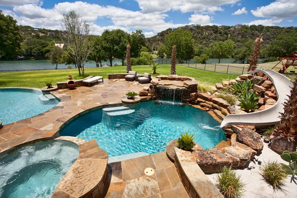 Home and Pool on Lake Austin